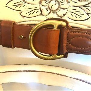 Ralph Lauren Stir up brass and leather belt